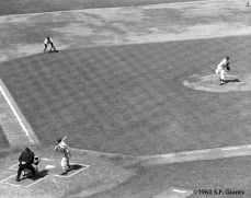 sf giants, san francisco giants, photo, 1960, candlestick park, opening day, first pitch
