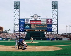 2000, sf giants, pacific bell park, sbc park, at&t park, san francisco giants, photo, opening day, fans, kirk rueter