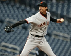 San Francisco Giants, S.F. Giants, photo, 2009, Randy Johnson