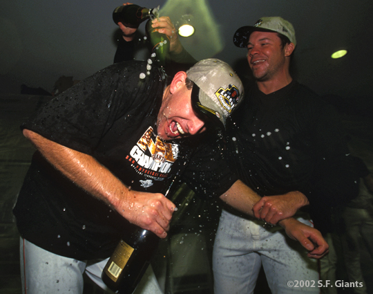 sf giants, san francisco giants, 2002, photo, NLCS, kirk rueter, chad zerbe