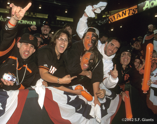 sf giants, san francisco giants, 2002, photo, NLCS, fans