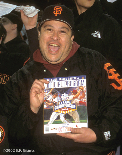sf giants, san francisco giants, 2002, photo, NLCS, fan