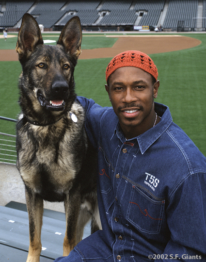 spca, sf giants, calendar, san francisco giants, photo, 2002, kenny lofton