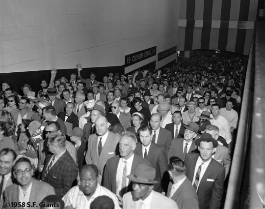 1958, san francisco giants, sf giants, photo, fans