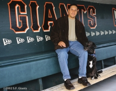 spca, sf giants, calendar, san francisco giants, photo, 2002, russ ortiz