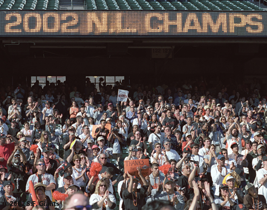 sf giants, 2002, rally, san francisco giants, photo, fans