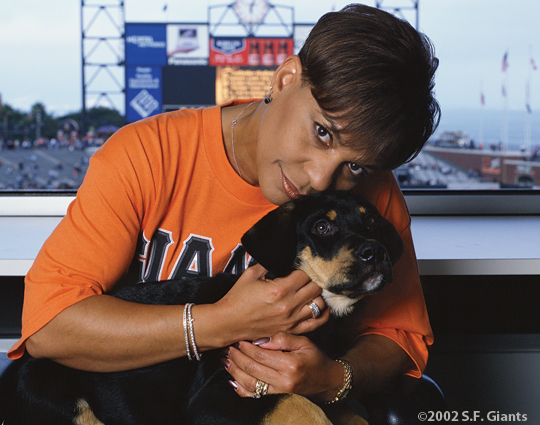 spca, sf giants, calendar, san francisco giants, photo, 2002, renel brooks-moon
