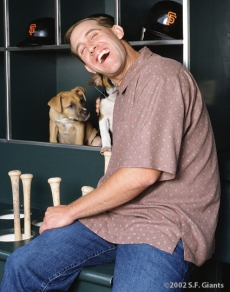 Kirk Rueter, spca, sf giants, calendar, san francisco giants, photo, 2002