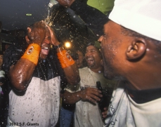 2002 Wild Card Clinch, sf giants, san francisco giants, photo, dusty baker