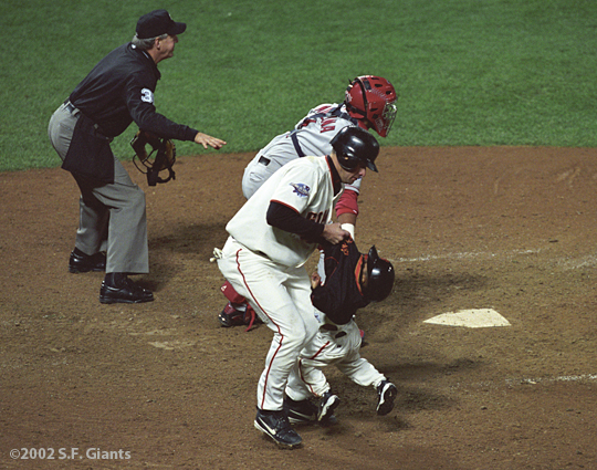 sf giants, 2002, world series, san francisco giants, photo, jt snow, darren baker