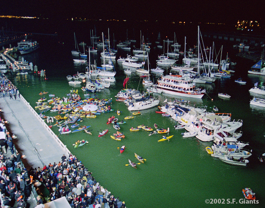 sf giants, 2002, world series, san francisco giants, photo, McCovey Cove