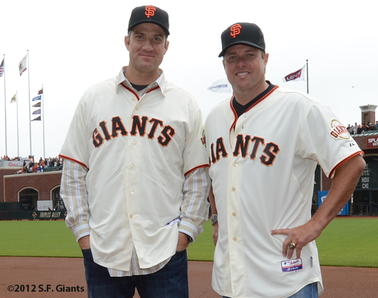 2002 team reunion, sf giants, san francisco giants, photo, 2012, jt snow, damon minor