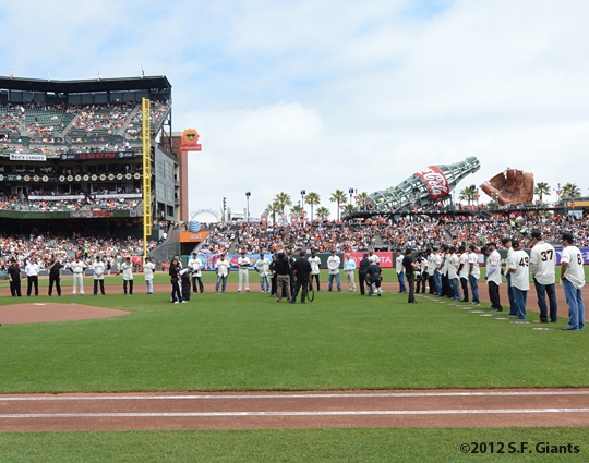 2002 team reunion, sf giants, san francisco giants, photo, 2012, team