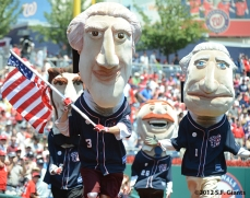 sf giants, san francisco giants, photo, 4th of july, july 4, 2012, dead presidents
