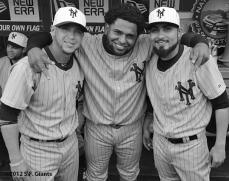 Gregor Blanco, Pablo Sandoval & Sergio Romo