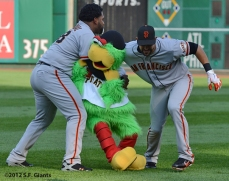 sf giants, san francisco giants, photo, 2012, angel pagan, pablo sandoval