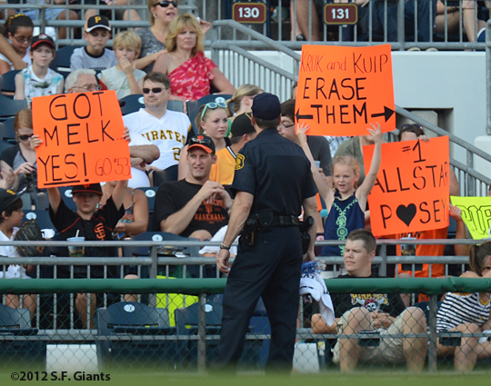 sf giants, san francisco giants, photo, 2012, fans
