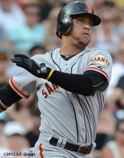 sf giants, san francisco giants, photo, 2012, gregor blanco