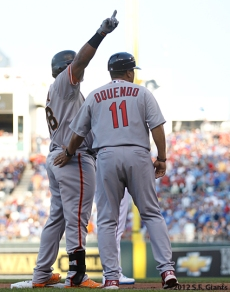 sf giants, san francisco giants, photo, 2012, all star game, july 10, pablo sandoval, Jose Oquendo
