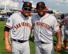 sf giants, san francisco giants, photo, 2012, all star game, july 10, melky cabrera, pablo sandoval