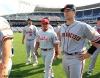 sf giants, san francisco giants, photo, 2012, all star game, july 10, buster posey, Carlos Ruiz, Lance Lynn
