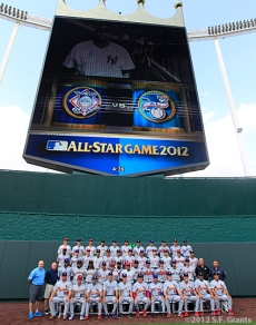 sf giants, san francisco giants, photo, 2012, all star game, july 10, nl team