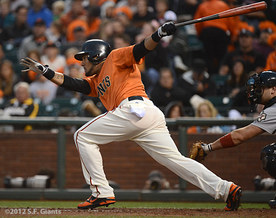 sf giants, san francisco giants, photo, fans, melky cabrera