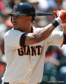 sf giants, san francisco giants, photo, 2012, emmanuel burriss