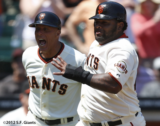 sf giants, san francisco giants, photo, 2012, pablo sandoval, tim flannery