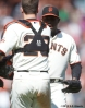 sf giants, san francisco giants, photo, 2012, santiago casilla, buster posey