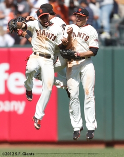 sf giants, san francisco giants, photo, 2012, nate schierholtz, gregor blanco