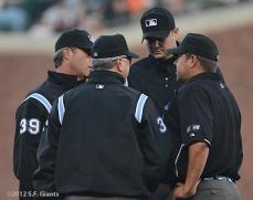 sf giants, san francisco giants, photo, 2012, umpires
