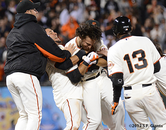 sf giants, san francisco giants, photo, 2012, brandon crawford, team