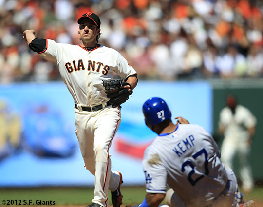 San Francisco Giants, S.F. Giants, photo, 2012, Ryan Theriot, Matt Kemp