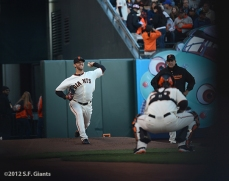 sf giants, san francisco giants, photo, 2012, madison bumgarner, dave righetti, buster posey