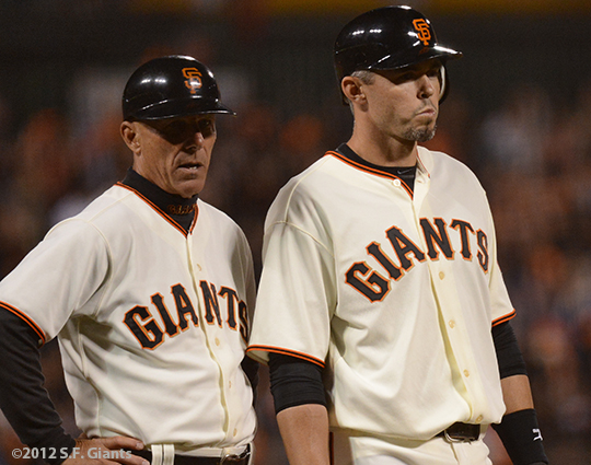 sf giants, san francisco giants, photo, 2012, tim flannery, eli whiteside