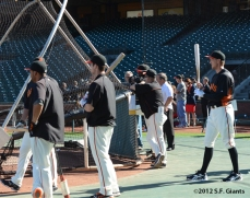 sf giants, san francisco giants, photo, 2012, hunter pence, team