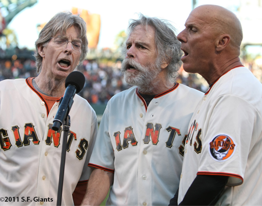 tim flannery, bob weir, bryan stow, sf giaints, san francisco giants, photo, 2011