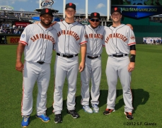 all star game, 2012, july 10, sf giants, san francisco giants, photo, melky cabrera, matt cain, buster posey, pablo sandoval