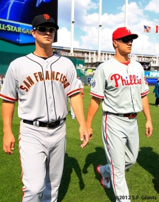 all star game, 2012, july 10, sf giants, san francisco giants, photo, matt cain, Jonathan Papelbon