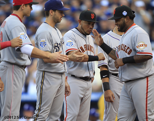 all star game, 2012, july 10, sf giants, san francisco giants, photo, melky cabrera, joey votto, ryan braun, pablo sandoval