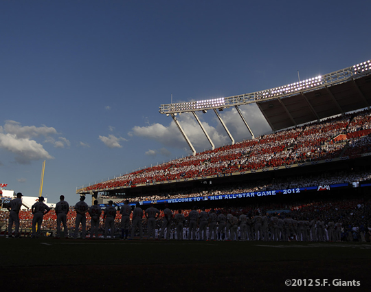 all star game, 2012, july 10, sf giants, san francisco giants, photo, team
