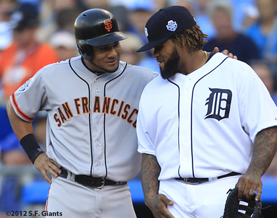 all star game, 2012, july 10, sf giants, san francisco giants, photo, melky cabrera, prince fielder