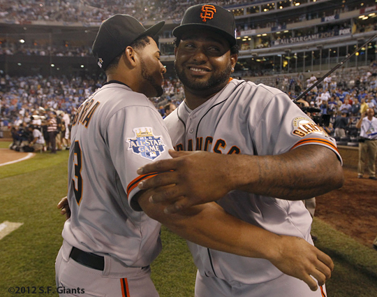 all star game, 2012, july 10, sf giants, san francisco giants, photo, melky cabrera, pablo sandoval