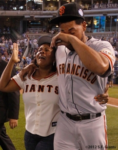 all star game, 2012, july 10, sf giants, san francisco giants, photo, melky cabrera, mom