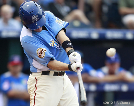 all star game, 2012, july 8, sf giants, san francisco giants, kansas city, photo, tommy joseph