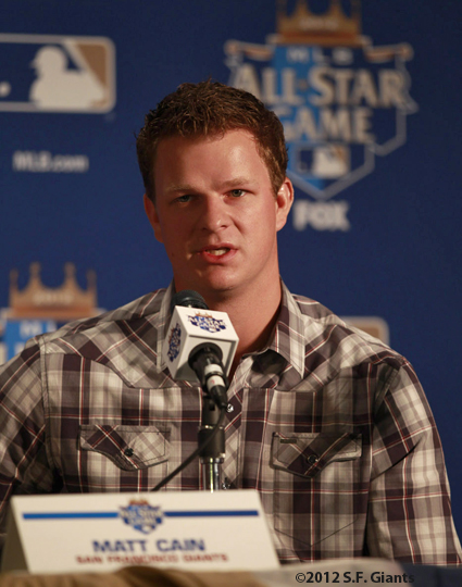 sf giants, san francisco giants, all star game, 2012, july 9, photo, Matt Cain