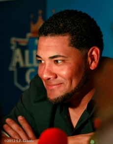 sf giants, san francisco giants, all star game, 2012, july 9, photo, melky cabrera