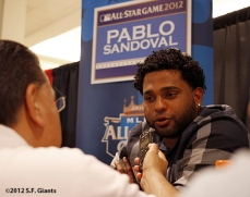 sf giants, san francisco giants, all star game, 2012, july 9, photo, pablo sandoval