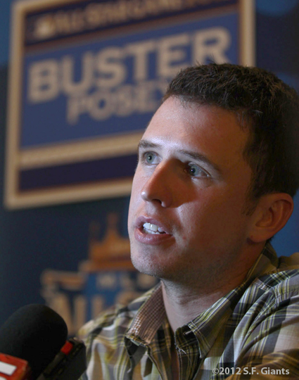sf giants, san francisco giants, all star game, 2012, july 9, photo, buster Posey